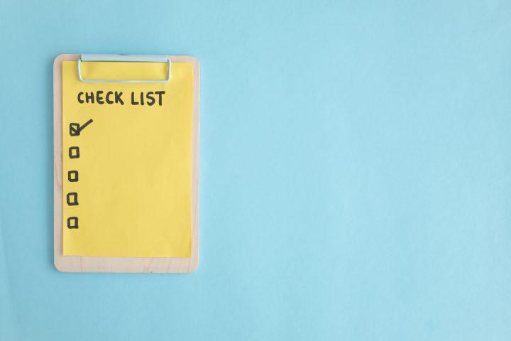 Imagem de caderno de checklist