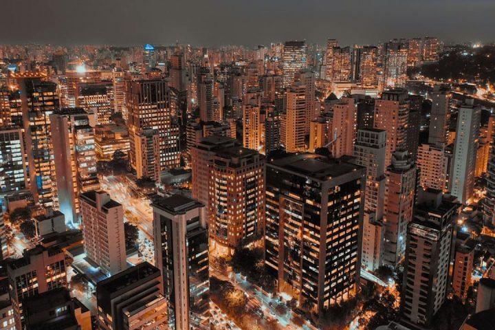 Vista aérea do bairro Itaim Bibi, em São Paulo