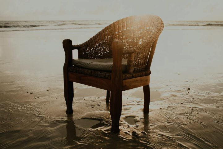 Pedaço mais hypado de Trancoso: cadeira na praia