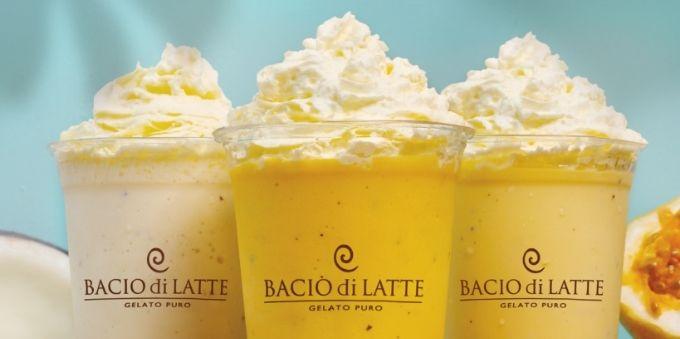 Três shakes da Bacio di Latte