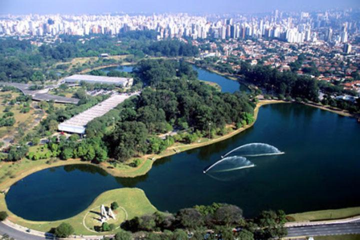 Vista aérea do Parque Ibirapuera