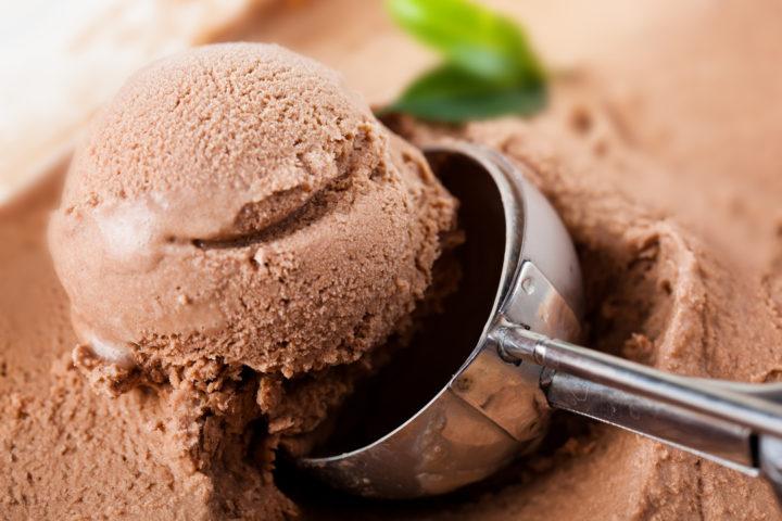 Sorveteria: imagem de sorvete de massa de chocolate