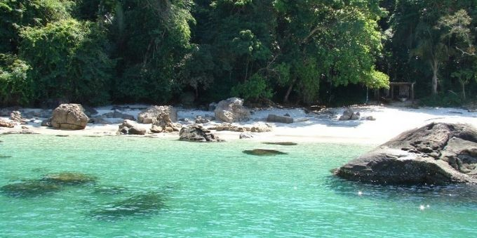 Imagem da Ilha da Gipóia, em Angra dos Reis