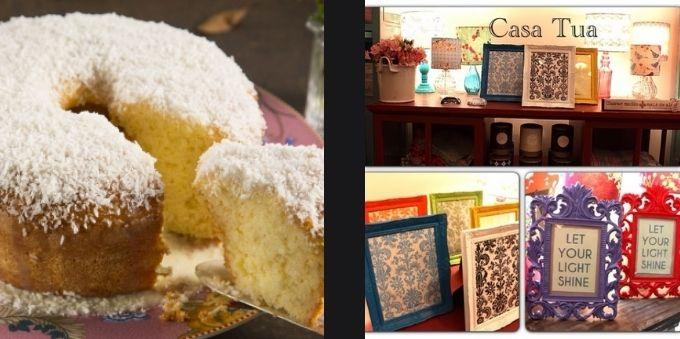 Morumbi e arredores: imagem da esquerda mostra bolo sendo cortado. Imagem da direita mostra peças de artesanato