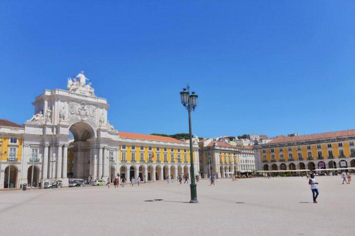 Arte de Lisboa: imagem a céu aberto mostra Arco da Rua Augusta, em Lisboa