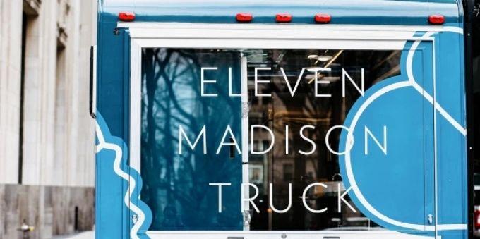 Nova York: imagem letreiro eleven madison truck
