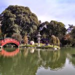 Parques em Buenos Aires: imagem aberta mostrado Jardim Japonês, com céu aberto