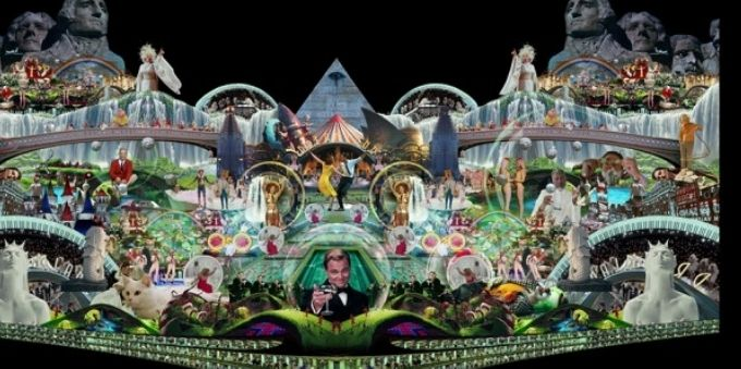 Miami: obra de Marco Brambilla faz sátira a obras hollywoodianas, como lalaland.